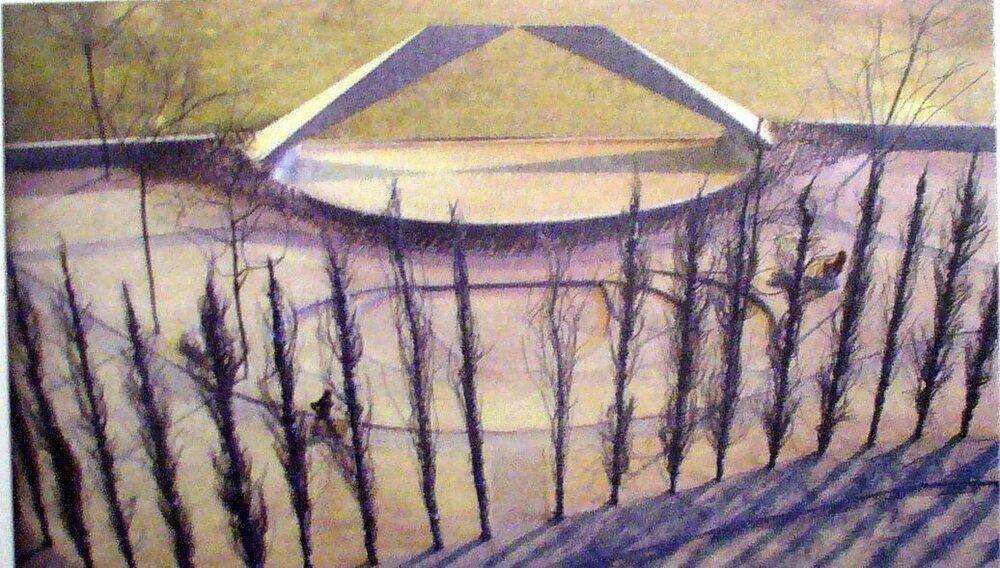 Viale Campofregoso e Ponte Carrara (disegno scultura Beverly Pepper - anni2000).JPG